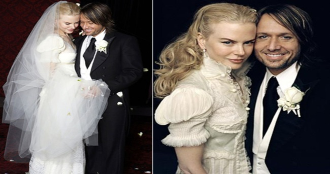 Hollywood actress Nicole Kidman puts wedding dress on display at ...
