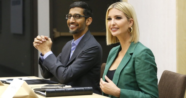 Image result for <a class='inner-topic-link' href='/search/topic?searchType=search&searchTerm=SUNDAR' target='_blank' title='sundar -Latest Updates, Photos, Videos are a click away, CLICK NOW'></div>sundar </a>Pichai teaches US workers technical skills with Ivanka Trump